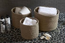 ludlow handwoven soft round jute basket the holding company