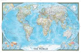 The World Political Map by National Geographic World Map World Map