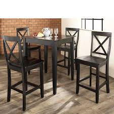 black high table and chairs 47 pub dining table sets steve silver antoinette 3 piece pub table