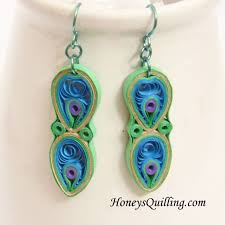 peacock feather earrings s 489 best quilling paper bead earrings 4 images on
