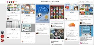 the library voice board for the winter around the