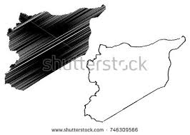 outlined syria map vector download free vector art stock