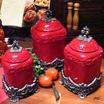 vintage mid century kitchen canisters burroughs burrite set of 4