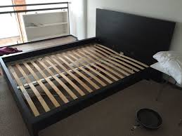 Malm Ikea Bed Frame Bedroom Engaging Image Of Bedroom Decoration Using Solid Black