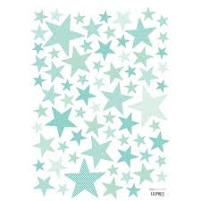 stickers étoile chambre bébé lot de plusieurs stickers étoiles couleur mint