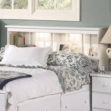 Queen Headboard Bookcase Lang Shaker Full Queen Bookcase Headboard With Lights A1