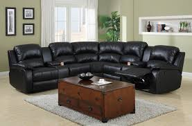Reclining Sectional Sofas by Fabulous Black Leather Reclining Sectional Sofa U2013 Interiorvues