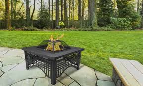 Wood Firepit Pleasant Hearth Dakota Wood Burning Pit Barbeque With Gas