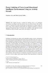 cover letter publication submission fuzzy labeling of users in an educational intelligent environment