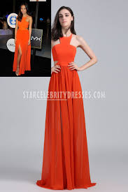 jamie chung long chiffon halter neck evening gown db3 audrey night