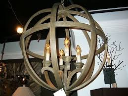 Orb Chandelier Chestnut Wood Orb Chandelier The Designer Insider