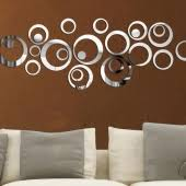 acrylic 3d diy home decoration fashion mirror surface circle wall