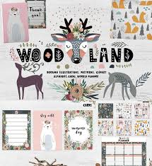 seamless pattern creator woodland mood free download