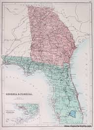 Map Of South Florida by Georgia U0026 Florida Antique Maps And Charts U2013 Original Vintage
