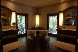 spacious luxury bathroom with standalone tub picture of amanpulo