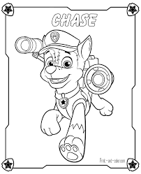 quality paw patrol coloring pages