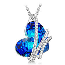 crystal heart necklace wholesale images Ninaqueen silver necklaces for women pendant jewelry jpg