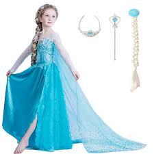 Elsa Costume Aliexpress Com Buy 2017 Girls Dresses Elsa Dress Princess Movie