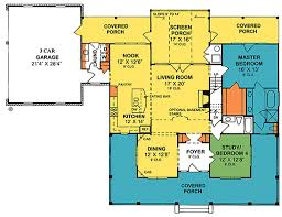 Country Kitchen Floor Plans by Country Style House Plan 4 Beds 3 00 Baths 2252 Sq Ft Plan 20 2041