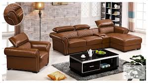 Iexcellent Designer Corner Sofa Bedeuropean And American Style - Leather sofa design living room