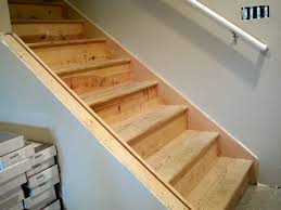 awesome unfinished basement stairs stair basement stair ideas