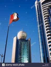 Commercial Flag Pole Uae Dubai Deira Etisalat Building On Dubai Creek With Flag Pole In