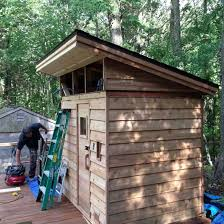 slant roof building a shed slant roof sauna underconstruction without posts