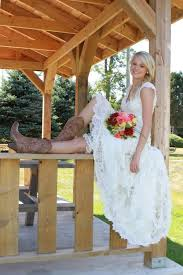 how to wear cowboy boots with a wedding dress perfect wedding