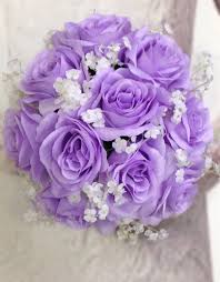 artificial wedding flowers new silk lavender bridal bouquet lavender and baby s