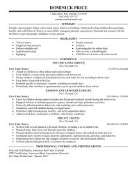 How To Put Skills On A Resume Examples by Best Part Time Nanny Resume Example Livecareer