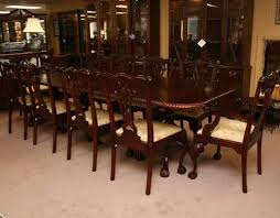 Mahogany Chippendale Dining Table With  Chairs - Chippendale dining room