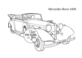 super car mercedes benz 540k coloring page cool car printable