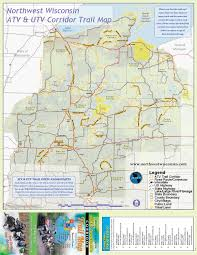 Maps Wisconsin by Nw Wisconsin Atv U0026 Snowmobile Corridor Map By Tourwashburncounty