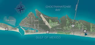 destin map destin florida map l affordable rental properties in destin