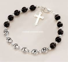 holy communion gifts for boys personalised boys communion name bracelet cross for