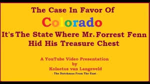 Forrest Fenn Map The Case In Favor Of Colorado Reloaded The State Where Mr