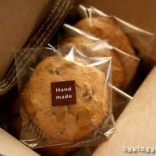 7 10cm transparent baked goods biscuits packaging bags