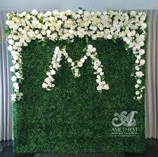 boxwood flower wall click for more info u003e u003e amethyst wedding
