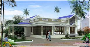 elevation in blue roof house ideas home design for ground floor