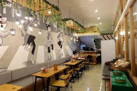 black and white mural to make your cafe and restaurant look