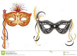 carnival masks carnival masks gold and silver royalty free stock photo image