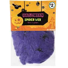 halloween spider web assorted each woolworths