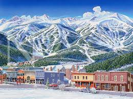 Colorado Ski Map by Breckenridge Colorado James Niehues Map Artist Ski Maps