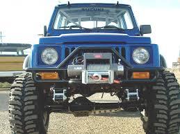suzuki samurai buggy front universal winch mount bumper u2013 trail tough