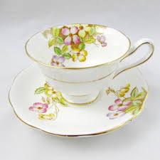 royal albert clematis tea cup and saucer vintage tea cup and