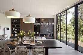 Hanging Light Fixtures For Dining Rooms Modern Pendant Light Wood And Aluminum L Black White Restaurant