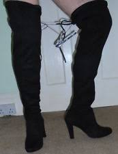 womens wedge boots size 9 plus size pull on knee boots for ebay