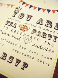 the queen u0027s diamond jubilee tea party invitations u2013 free printable