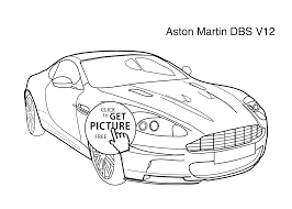 car aston martin dbs v12 coloring page for kids 4 printable free