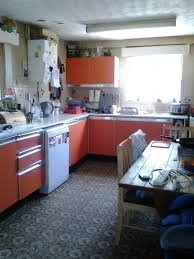 painting a kitchen with orange cabinets thriftyfun